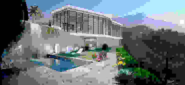 Minimalist style garden by Criz Arquitectura Minimalist