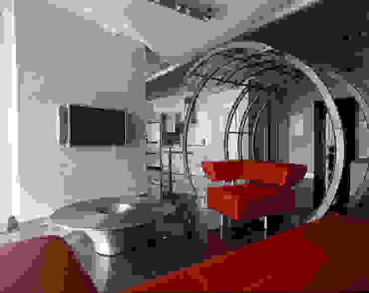 квартира на Авиационной Гостиная в стиле модерн от Disobject architects Модерн