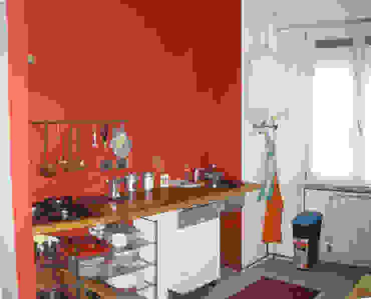 Ristrutturazione appartamento a Bergamo Cucina moderna di ARKHISTUDIO Moderno