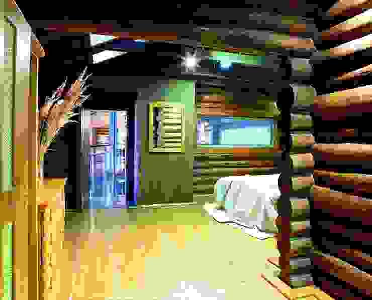 Баня в подмосковье Спальня в рустикальном стиле от ARP Studio Рустикальный
