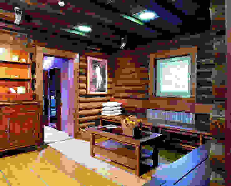 Баня в подмосковье Коридор, прихожая и лестница в рустикальном стиле от ARP Studio Рустикальный