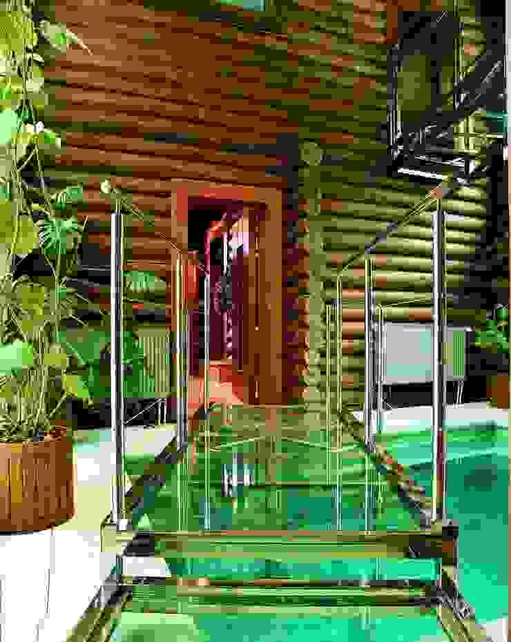 Баня в подмосковье Бассейн в рустикальном стиле от ARP Studio Рустикальный