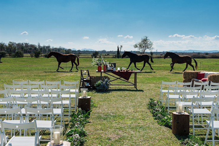 Country style gardens by Empordà Events Country
