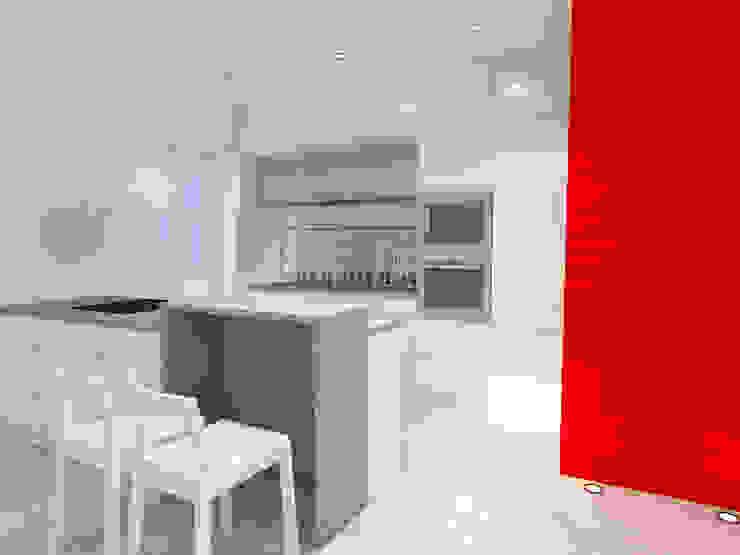 Projekt wnętrza na poddaszu - Połczyn Zdrój Nowoczesna kuchnia od Kameleon - Kreatywne Studio Projektowania Wnętrz Nowoczesny