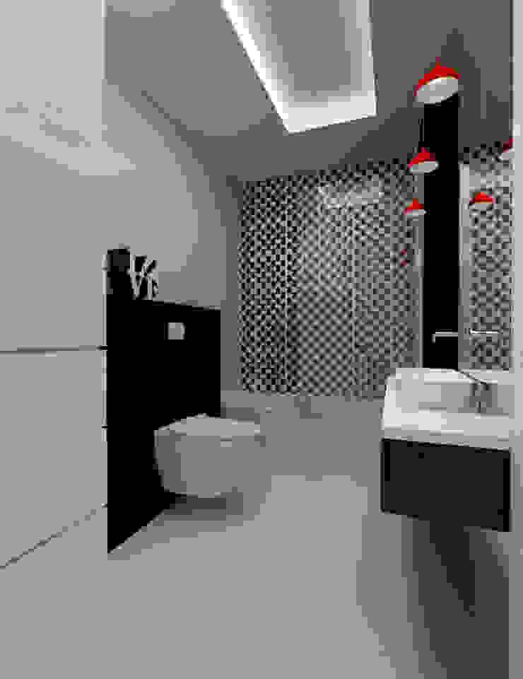 Projekt wnętrza na poddaszu - Połczyn Zdrój Nowoczesna łazienka od Kameleon - Kreatywne Studio Projektowania Wnętrz Nowoczesny