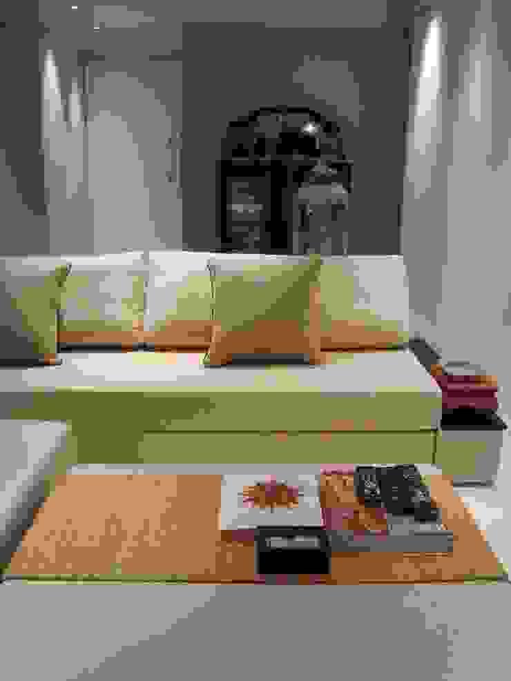 Apto. Perdizes - Produção de Objetos Salas de estar mediterrâneas por AMMA PROJETOS Mediterrâneo