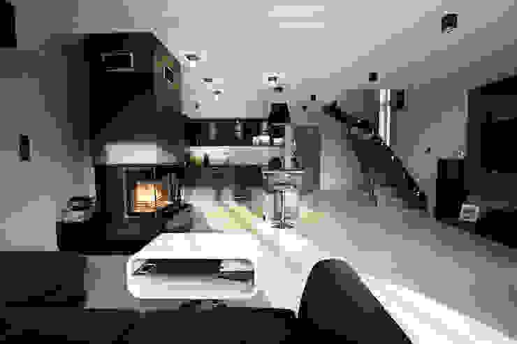 Luksusowe szarości Nowoczesny salon od Kameleon - Kreatywne Studio Projektowania Wnętrz Nowoczesny