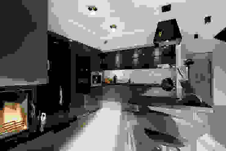 Luksusowe szarości: styl , w kategorii Kuchnia zaprojektowany przez Kameleon - Kreatywne Studio Projektowania Wnętrz,Nowoczesny
