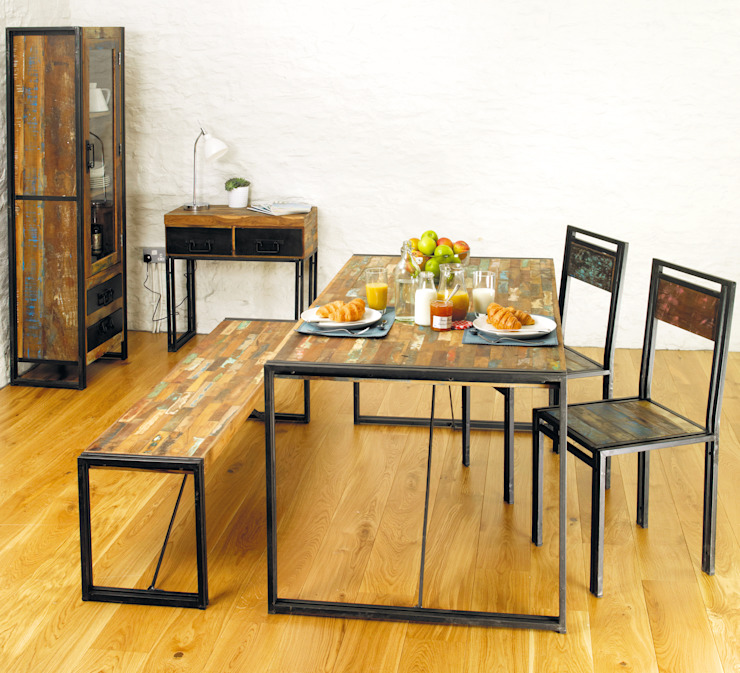 Urban Chic Dining Table: eclectic  by Harley & Lola, Eclectic