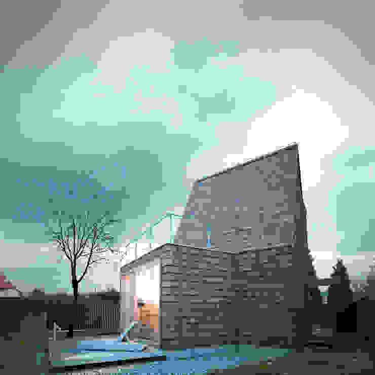 DOM MAŁY: styl , w kategorii Domy zaprojektowany przez 90 stopni,Minimalistyczny