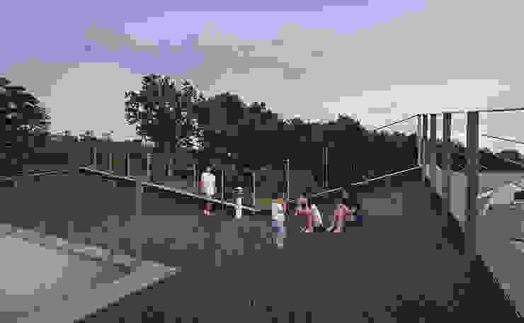 Roof as Playground: D-Werker Architects의 현대 ,모던