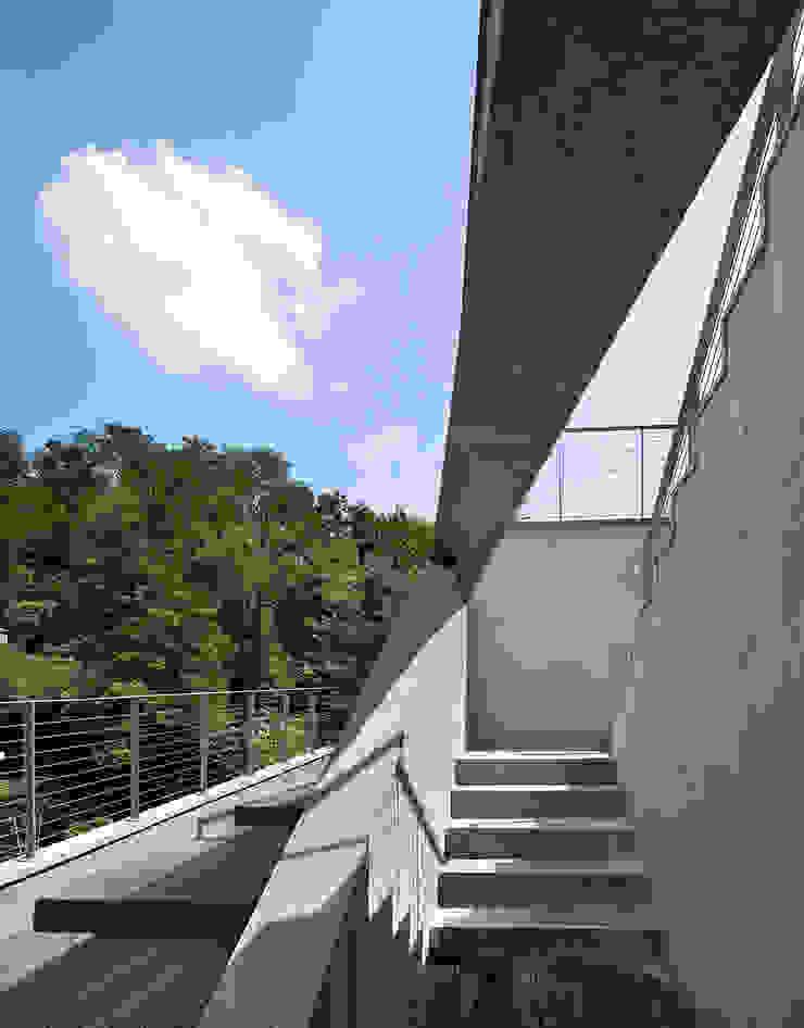 Stair_roof: D-Werker Architects의 현대 ,모던