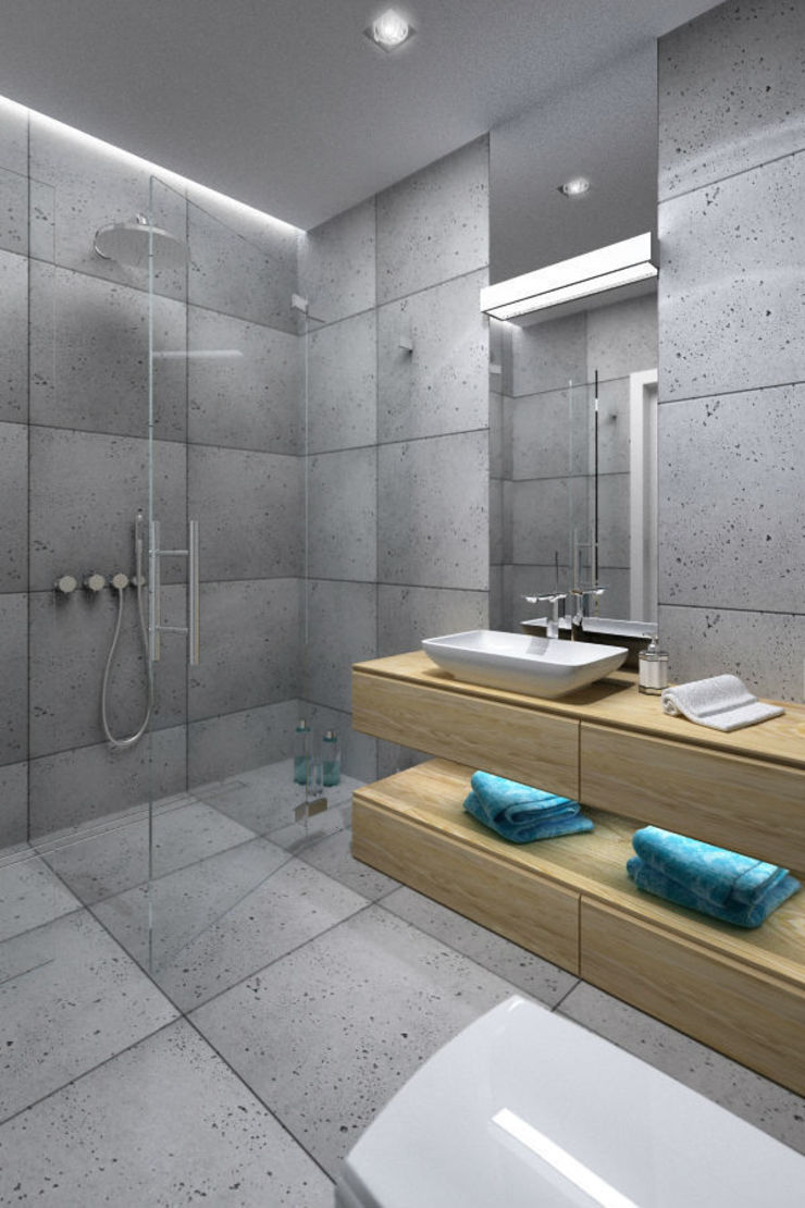 APARTAMENT KRASIŃSKICH 39m2 WARSZAWA Minimalistyczna łazienka od The Vibe Minimalistyczny