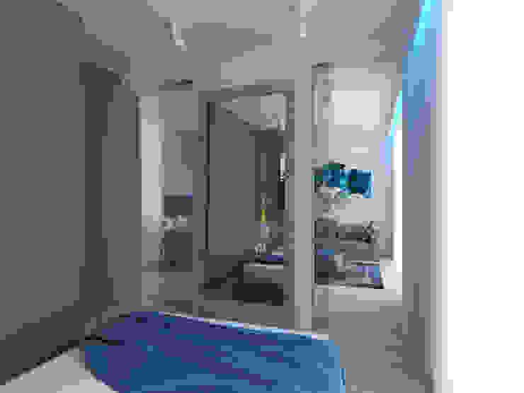 APARTAMENT KRASIŃSKICH 39m2 WARSZAWA Minimalistyczna sypialnia od The Vibe Minimalistyczny