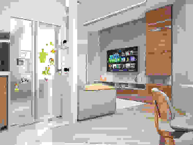 Четырехкомнатная квартира для молодой семьи Гостиная в стиле минимализм от Студия архитектуры и дизайна ДИАЛ Минимализм