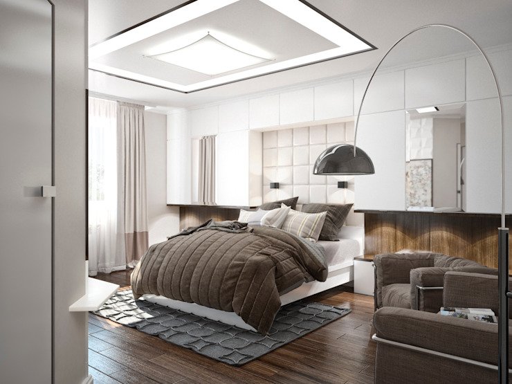 Студия архитектуры и дизайна ДИАЛ Minimalist bedroom