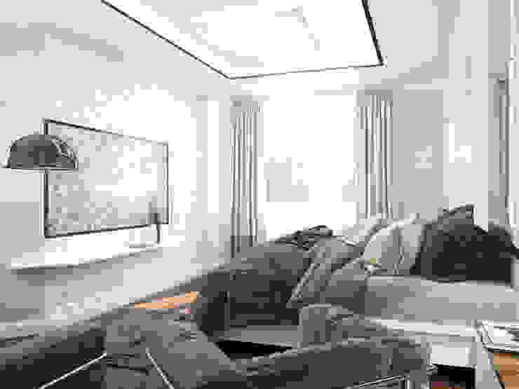 Четырехкомнатная квартира для молодой семьи Спальня в стиле минимализм от Студия архитектуры и дизайна ДИАЛ Минимализм