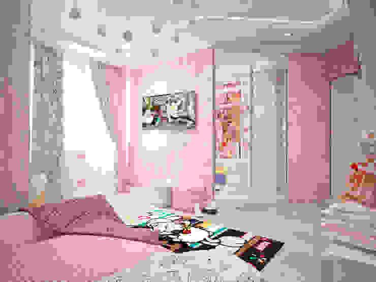 Четырехкомнатная квартира для молодой семьи Детская комнатa в стиле минимализм от Студия архитектуры и дизайна ДИАЛ Минимализм