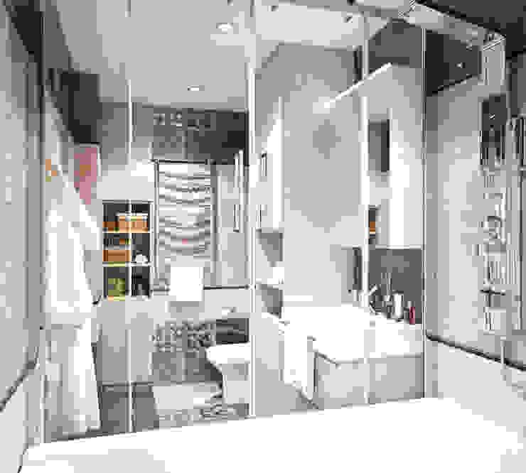 Четырехкомнатная квартира для молодой семьи Ванная комната в стиле минимализм от Студия архитектуры и дизайна ДИАЛ Минимализм