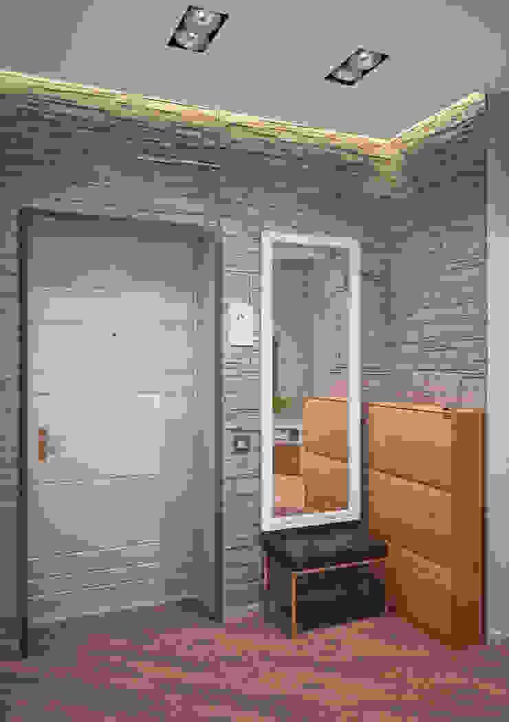 Четырехкомнатная квартира для молодой семьи Коридор, прихожая и лестница в стиле минимализм от Студия архитектуры и дизайна ДИАЛ Минимализм