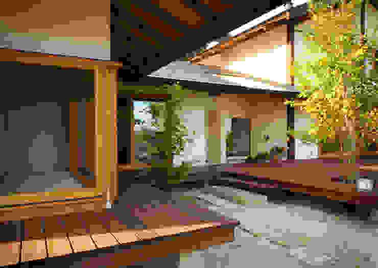高根の舎Ⅰ‐外観(デッキ側より2) オリジナルな 家 の 有限会社中村建築事務所 オリジナル