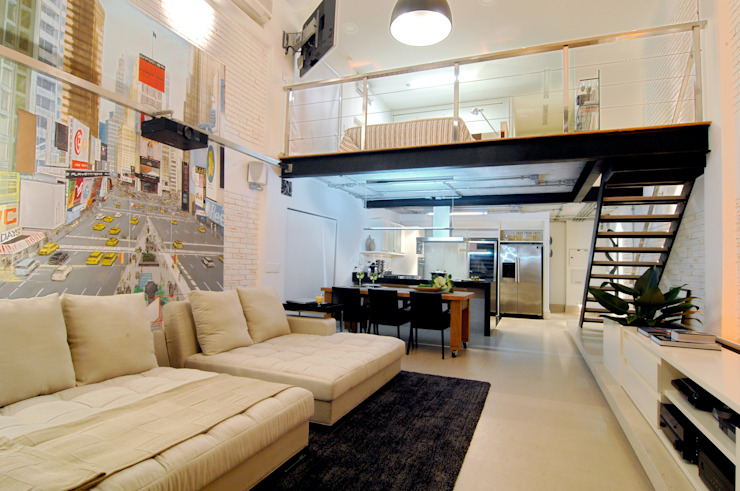 Modern Oturma Odası Flávia Gerab Modern