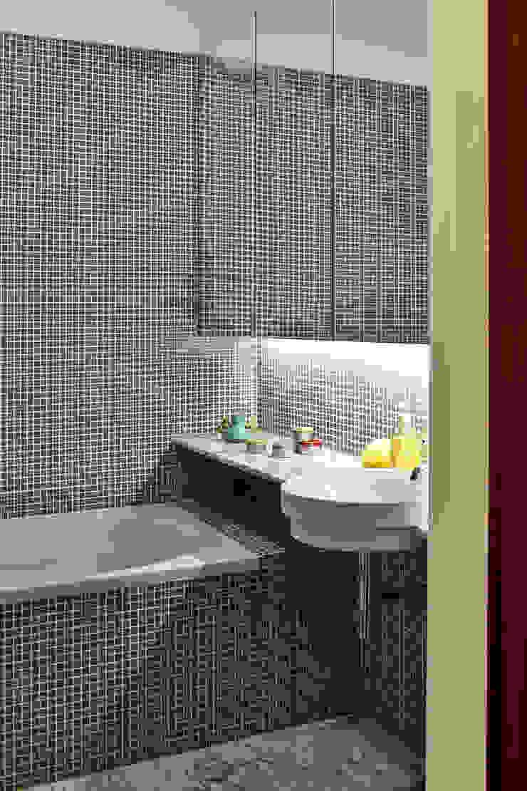 Apartamento A3_Reabilitação Arquitectura + Design Interiores Casas de banho ecléticas por Tiago Patricio Rodrigues, Arquitectura e Interiores Eclético