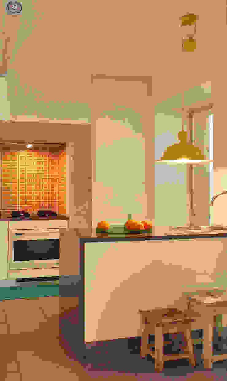 Apartamento A3_Reabilitação Arquitectura + Design Interiores Cozinhas ecléticas por Tiago Patricio Rodrigues, Arquitectura e Interiores Eclético