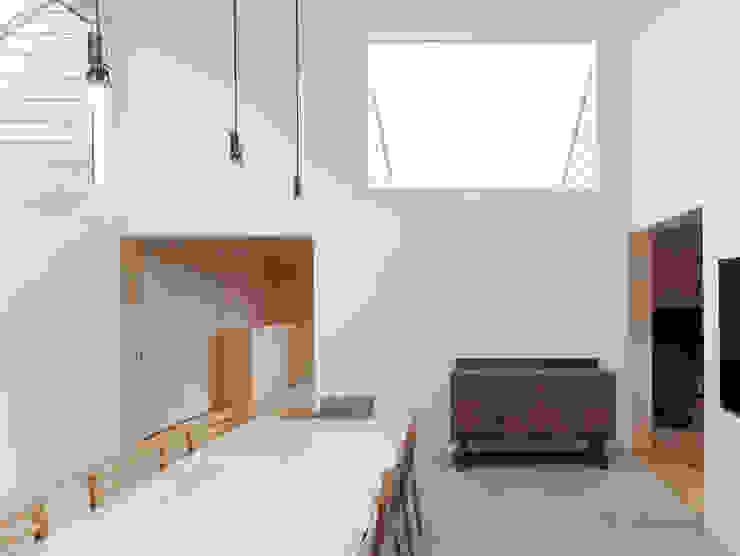 八木山のハウス モダンデザインの ダイニング の 齋藤和哉建築設計事務所 モダン