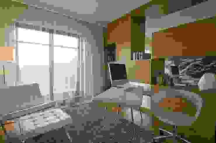 Dom prywatny w Gdynia 2010 Nowoczesne domowe biuro i gabinet od formativ. indywidualne projekty wnętrz Nowoczesny
