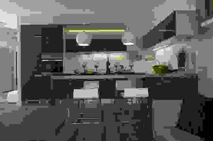 Mieszkanie pokazowe Invest Komfort 2010 Skandynawska jadalnia od formativ. indywidualne projekty wnętrz Skandynawski