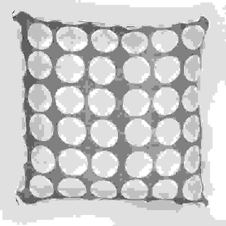 Crosses print cushion in grey Georgia Bosson HouseholdHomewares
