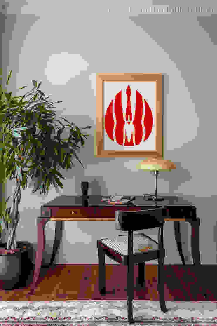 Новое ар деко Рабочий кабинет в эклектичном стиле от МАРИНА БУСЕЛ интерьерный дизайн Эклектичный