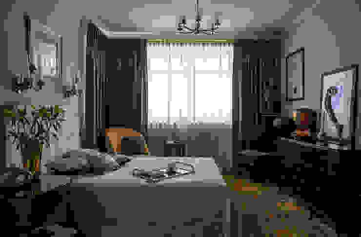 Новое ар деко Спальня в эклектичном стиле от МАРИНА БУСЕЛ интерьерный дизайн Эклектичный