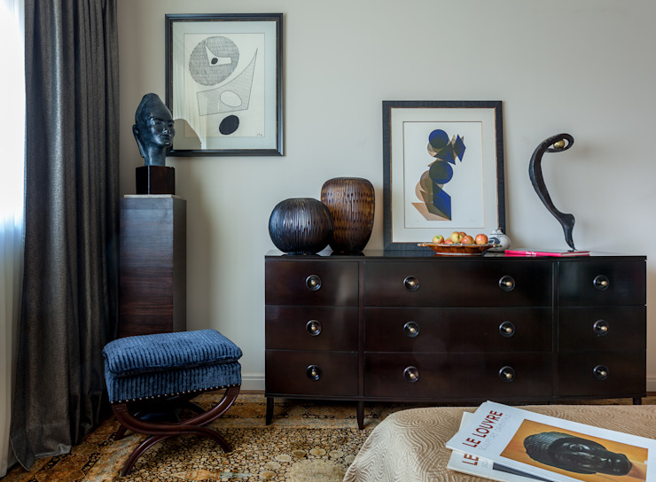 Eclectic style bedroom by МАРИНА БУСЕЛ интерьерный дизайн Eclectic