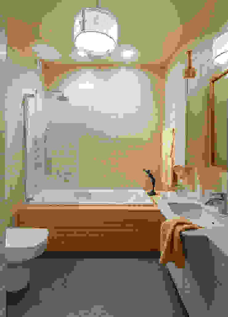 Новое ар деко Ванная комната в эклектичном стиле от МАРИНА БУСЕЛ интерьерный дизайн Эклектичный