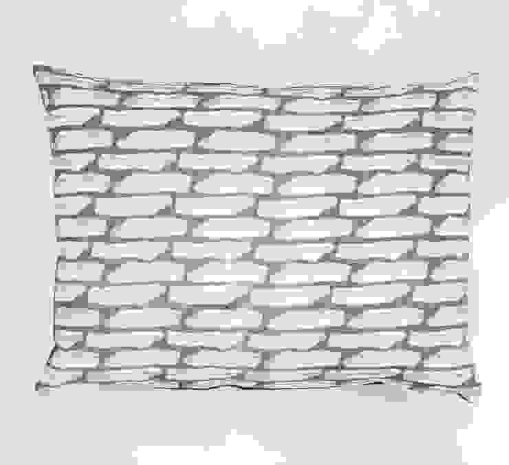Last print cushion in Grey Georgia Bosson HouseholdHomewares