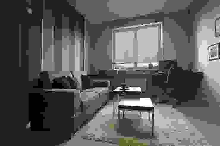 Apartament w Gdańsku 2010 Nowoczesne domowe biuro i gabinet od formativ. indywidualne projekty wnętrz Nowoczesny