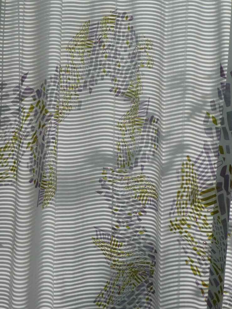 Thames curtain detail: modern  by Georgia Bosson, Modern