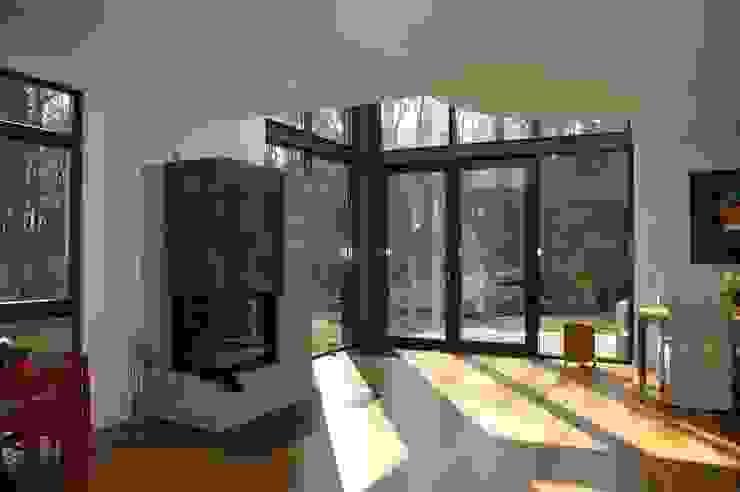 Modern Oturma Odası Architekt Witte Modern Ahşap Ahşap rengi