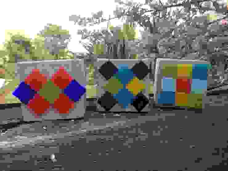 Macetas de cemento 7x7 cm de ArteSana Moderno