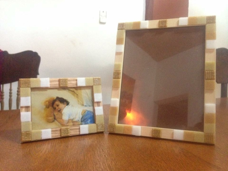 Portarretratos decorados con venecitas de ArteSana Moderno
