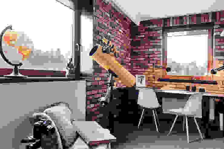 Apartament w Gdyni 2012 Nowoczesne domowe biuro i gabinet od formativ. indywidualne projekty wnętrz Nowoczesny