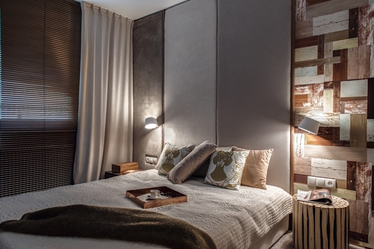 Mieszkanie w Gdyni 2013 Nowoczesna sypialnia od formativ. indywidualne projekty wnętrz Nowoczesny