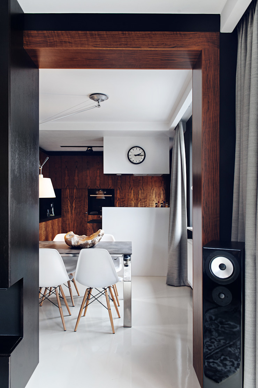 Столовая комната в стиле модерн от formativ. indywidualne projekty wnętrz Модерн