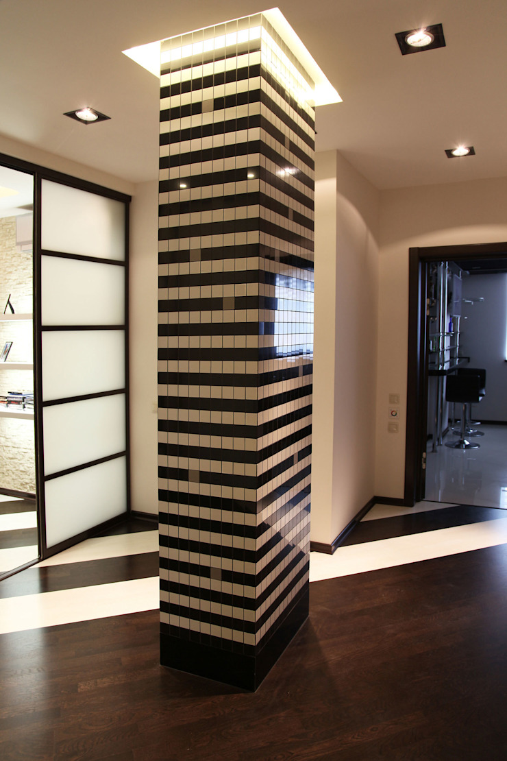 Minimalist corridor, hallway & stairs by meandr.pro Minimalist