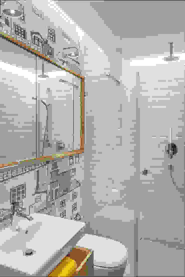 Dom w Gdyni 2015 Skandynawska łazienka od formativ. indywidualne projekty wnętrz Skandynawski
