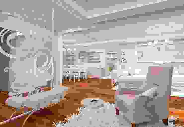 Salones de estilo mediterráneo de İdea Mimarlık Mediterráneo