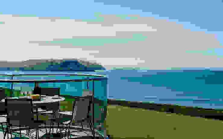 Seagrass, Polzeath, Cornwall Moderner Balkon, Veranda & Terrasse von The Bazeley Partnership Modern