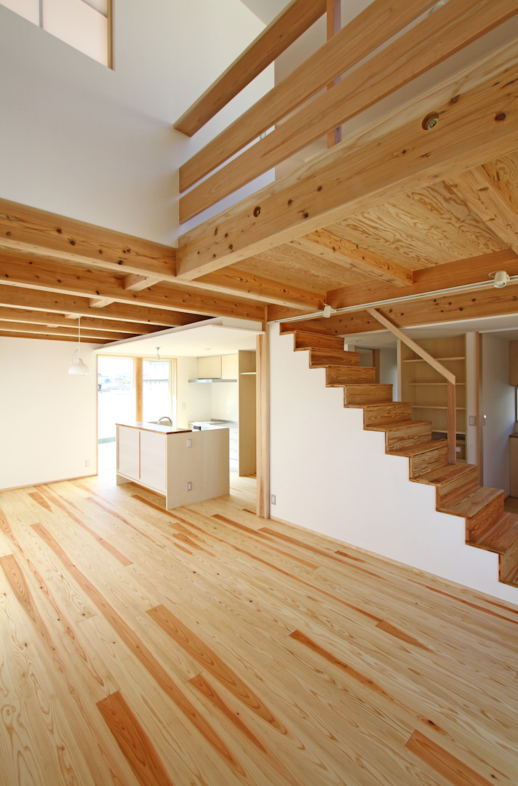 Eclectic style corridor, hallway & stairs by 有限会社 コアハウス Eclectic
